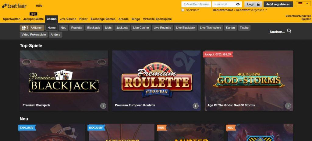 Vorschau Betfair Casino