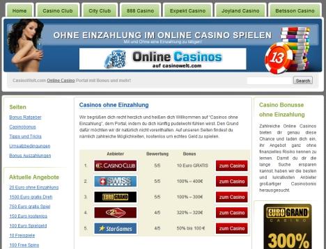 online casinos ohne einzahlung