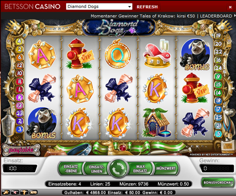diamond dogs online slot im betsson casino