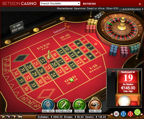 french roulette im betsson casino