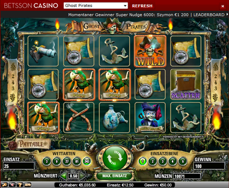 ghost pirates online slot im betsson casino
