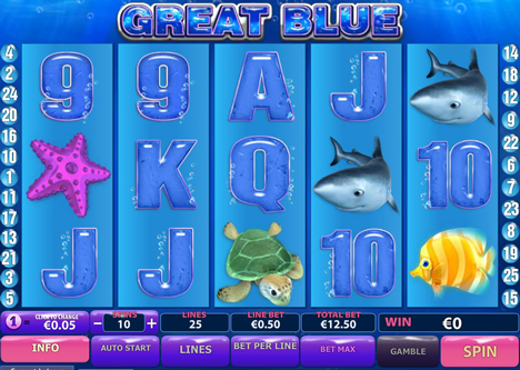 great blue online slot im prestige casino spielen