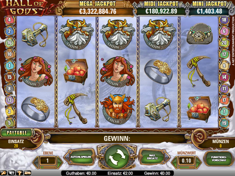 hall of gods online slot im betsson casino