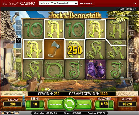 jack and the beanstalk casinospiel  im betsson casino
