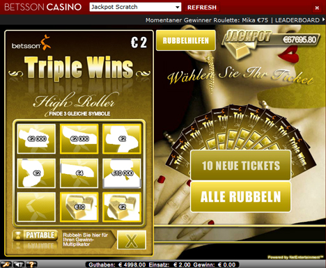 jackpot scratch casinospiel im betsson casino