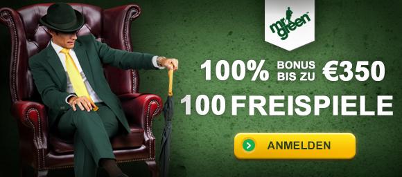 Mr Green Bonus sichern!