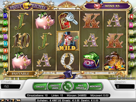 piggy riches online slot im betsson casino