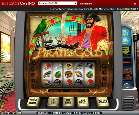 pirates gold online slot im betsson casino