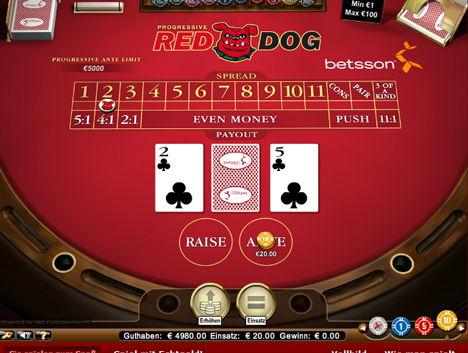 red dog casinospiel im betsson casino spielen